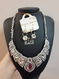 silver-colored necklace with earrings Toronto, M1B 0A7