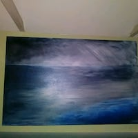Storm at sea by Benoit Laberge. Acrylic on canvas. Los Angeles, 90026