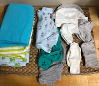 BNWOT - 16 pieces of newborn to 3 months baby boy clothes (0-3 months) Toronto