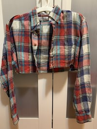 Plaid cropped top Burnaby