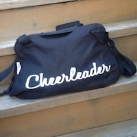 Chasse Girls' Micro Cheerleading Black Duffle Bag - 14 x 22 x 8 Chicago, 60622