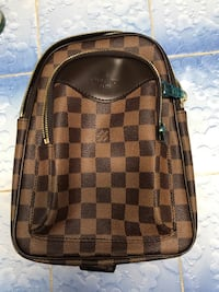 Damier ebene louis vuitton leather crossbody bag
