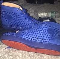 Men's Blue Christian louboutin sneakers size 9 New York, 11206