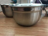 Brand new stainless steel serving pots
