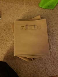 7 light brown/ khaki storage cubes all for $5 Columbia, 21046