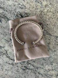 BRAND NEW DAVID YURMAN Cable Classic Cuff Bracelet with Black Onyx Vancouver