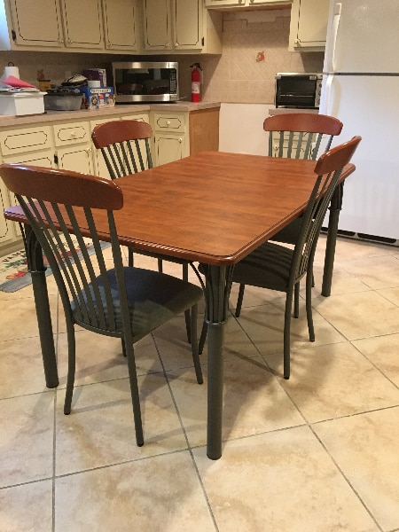 dining table set with leaf Used dining