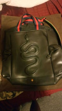 Gucci Backpack (Kingsnake Embossed Leather) Thunder Bay, P7C 4Z7