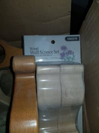 Wood wall sconces curtain accesories