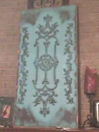 Blue(teal) art piece wooden about 3 or 4ft  Florence, 39073