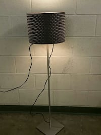 stainless steel floor lamp with brown knitted lamp shade Alexandria, 22302