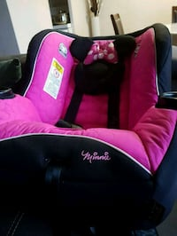 pink and black Minnie Mouse print fabric sofa chair Toronto, M9N 1Z7