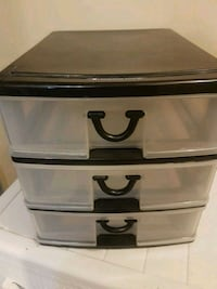 black and white plastic 3-drawer chest Windsor, N9A 1P7