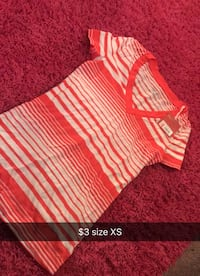 red and white stripe v-neck shirt Sioux Falls, 57103