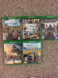 four Xbox One game cases null, N0E 2A0