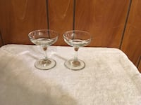 two clear long-stem cocktail glasses Islip, 11722