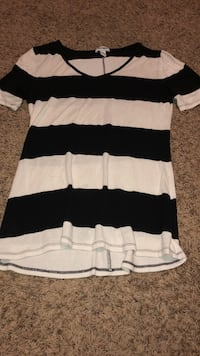 white and black striped crew-neck shirt West Point, 84015