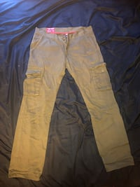 Men's Jordan Craig green straight leg cargo pants 34 50 km
