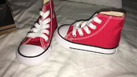 Red high top converse for infants BRAND NEW  Santa Rosa, 95404