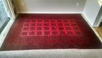 Afghan red and black wool area rug Alexandria, 22315