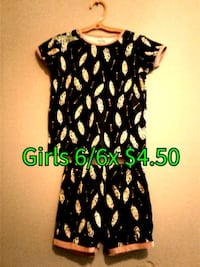 black and green floral dress Calgary, T3B 0T3