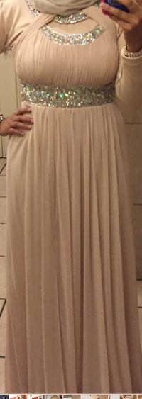 Women's beautiful tan beige champagne coloured chiffon dress / prom dress / evening gown  Whitby, L1P 1R5
