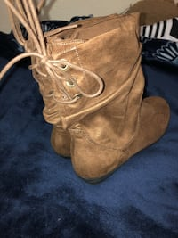 Brown low cut boots