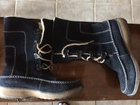 Pair of black leather lace-up boots Grand Bay-Westfield, E5K 2J1