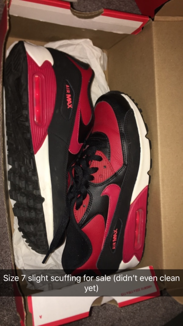 045dc6994 Used pair of red-and-black Nike Air Max for sale - letgo