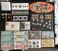 1918 - 2000 Lot of Assorted Canadian Coin Sets, Tokens & Banknotes  Calgary, T2R 0S8