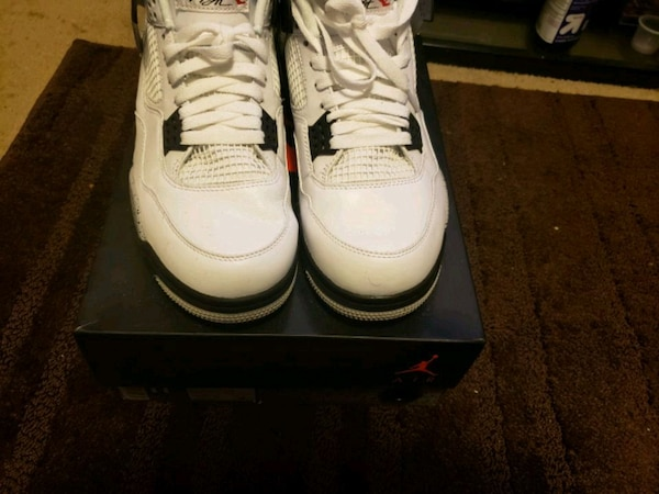 9a24b50dcbe1 Used pair of white Air Jordan basketball shoes for sale in South San ...