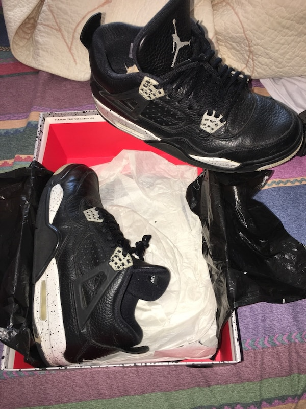 watch 2d961 473db Used pair of air jordan 4 oreo basketball shoes with box for sale in  Neptune - letgo