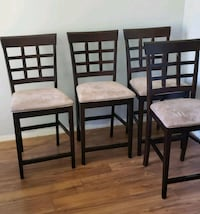 4 counter height chairs  Surrey, V3S 7W6