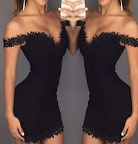 Women's off shoulder Sweetheart Dress small