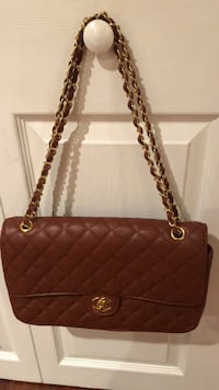 brown leather quilted shoulder bag Alexandria, 22310