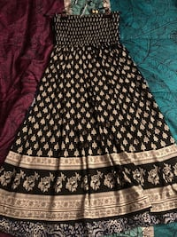 Navy blue and black short summer dress size small , ties up around neck or can be strapless Milton, L9T 4C1