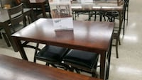rectangular brown wooden table with six chairs dining set Mechanicsville, 23111