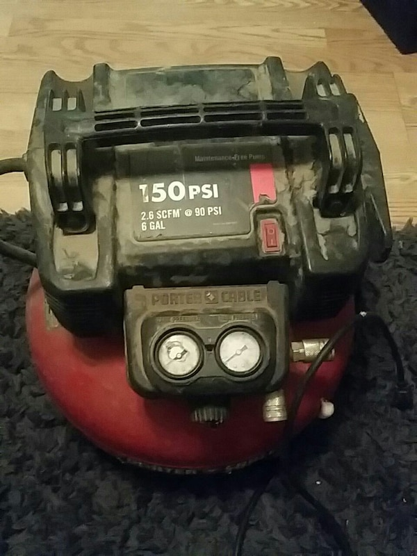 red Carter Porter pancake shape air compressor