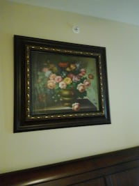 Oil painting with custom framing