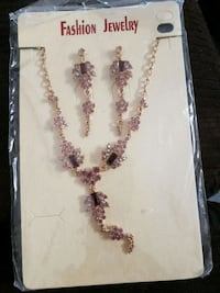 fashion necklace and earring set