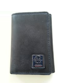 NAUTICA black leather tri-fold wallet