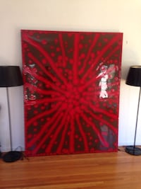 red and black abstract painting Los Angeles, 90036