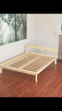 White wooden bed frame ,size double Surrey, V4N 2P4