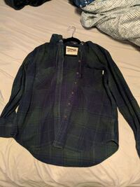 Navy/dark green plaid Button up (L) Edmonton, T5X 3W3