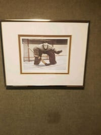 Ken Danby At the Crease painting framed size 17in diagonally