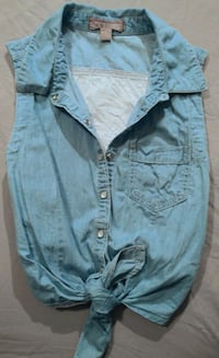 Women's Front Tie Denim Tank 3141 km