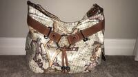 White and camel colour strap handbag London, N6H 5K3
