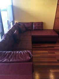 Brand New Red Faux Leather Sectional Sofa Couch  Silver Spring