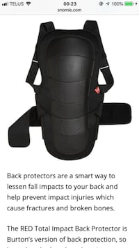 RED adjustable back brace for sports, bicycle / motorcycle riding/ snowboard off road Vancouver