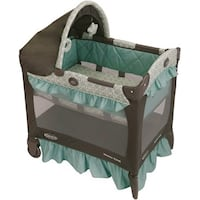 Baby's black and teal travel cot San Jose, 95123